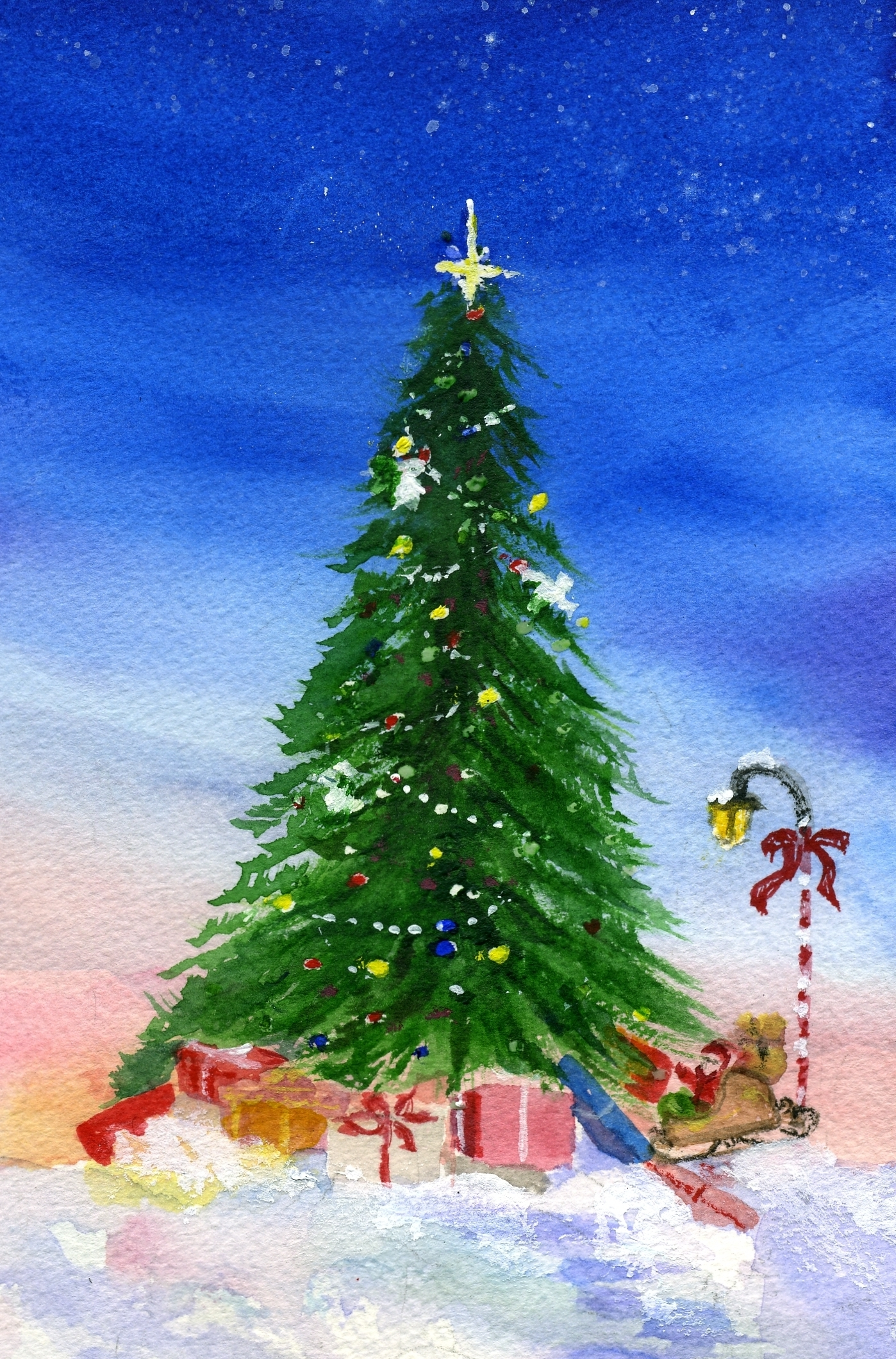 easy christmas paintings angel tree mary kay moody