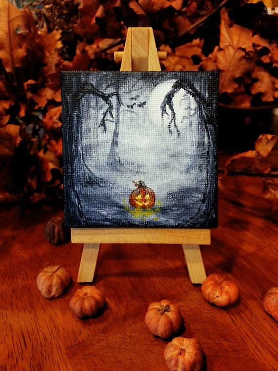Halloween Watercolor Paintings