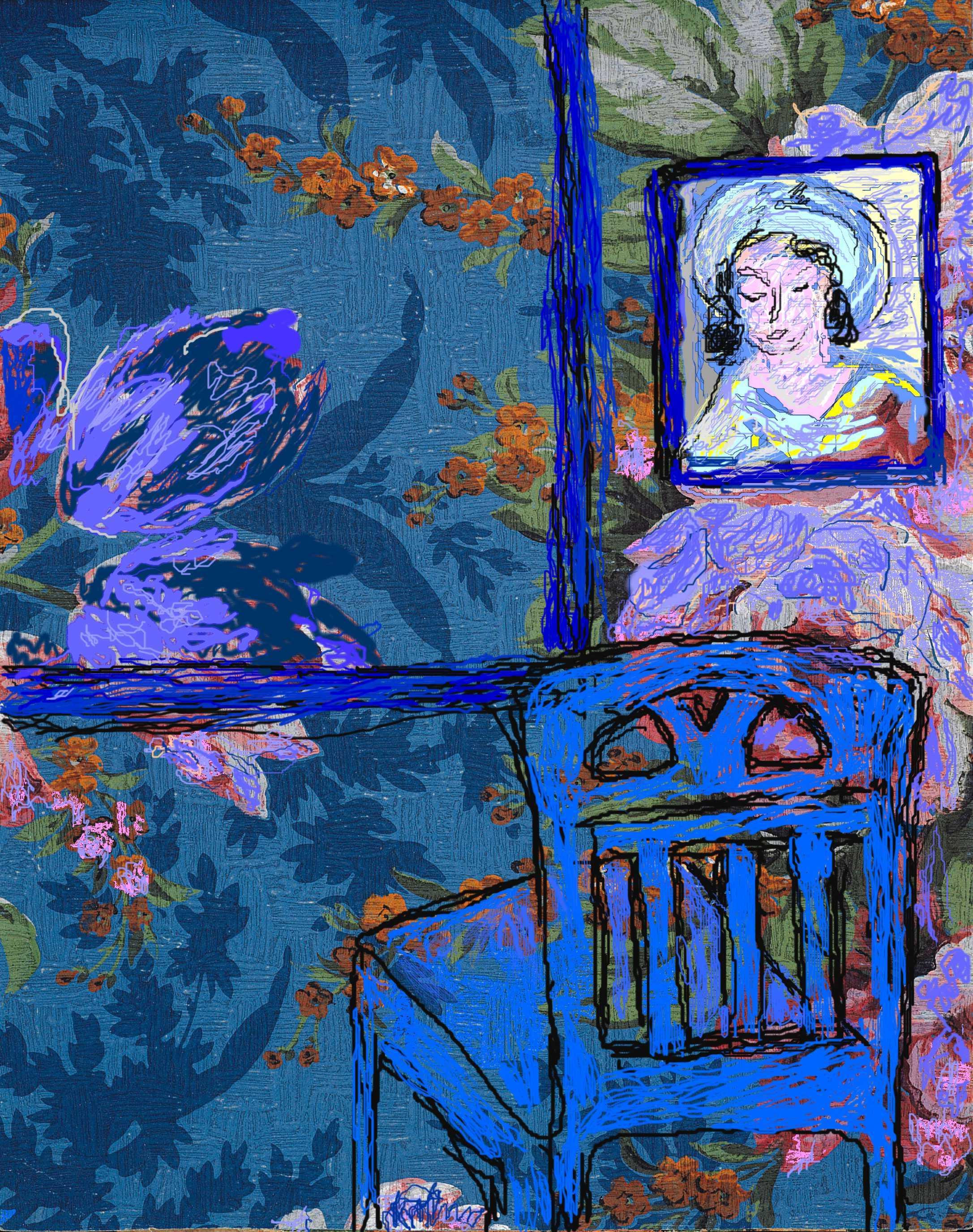 Blue Room paintings