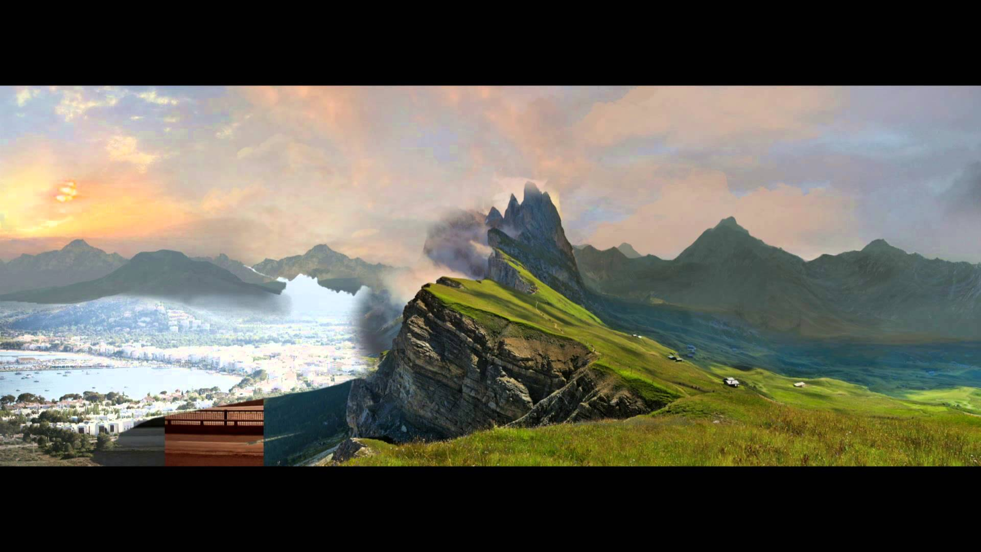 Digital matte paintings for Matte painting