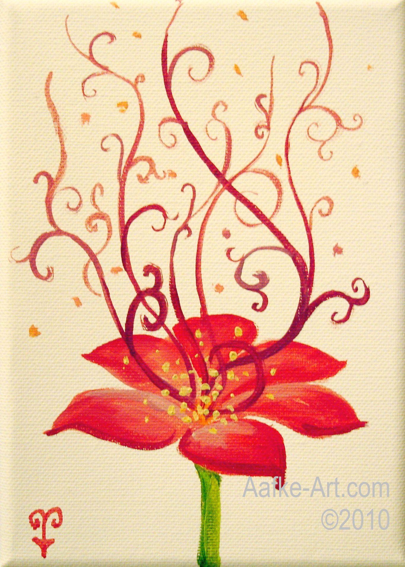 Flower Art Painting Acrylic Simple