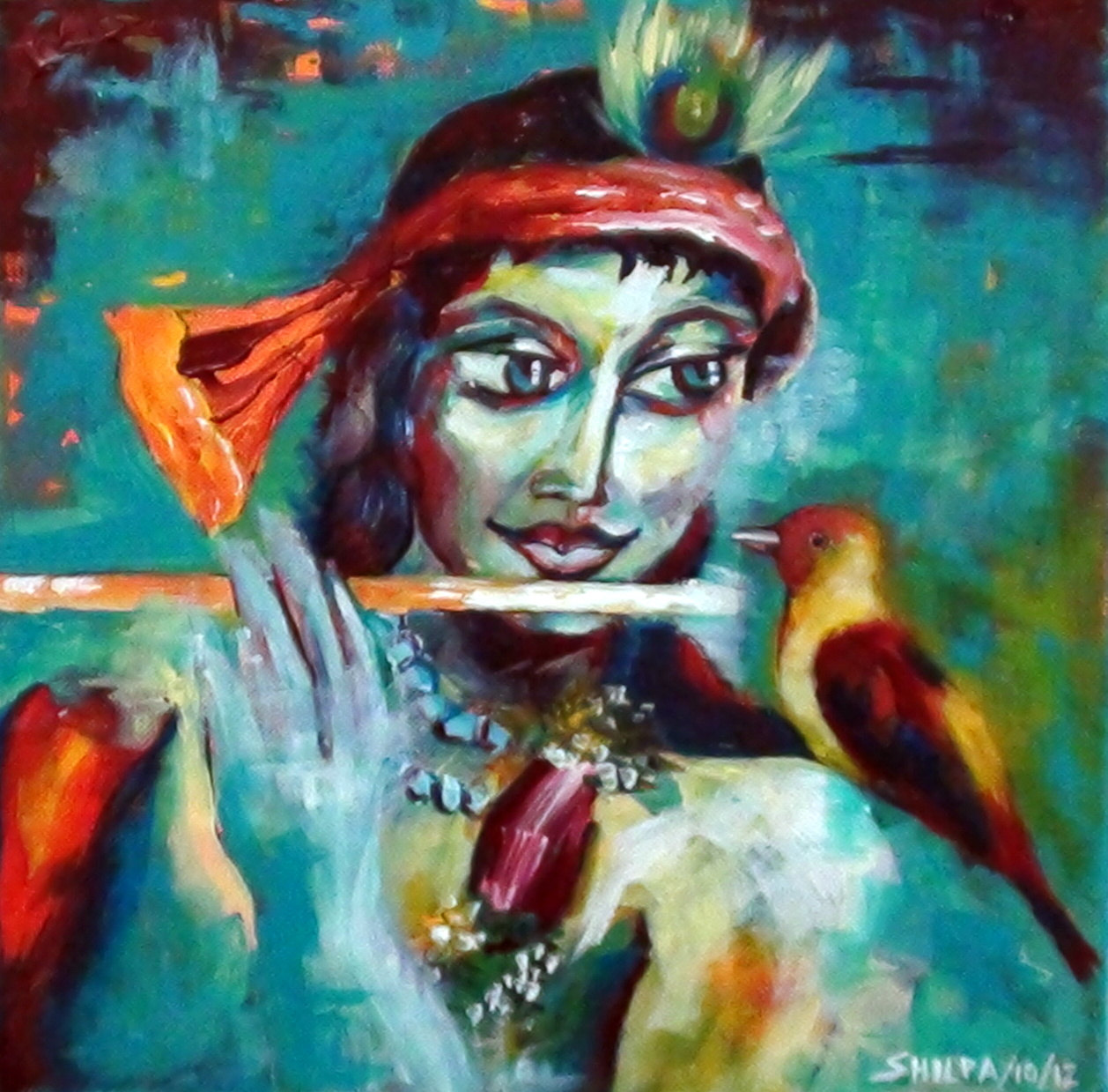 Krishna Modern paintings
