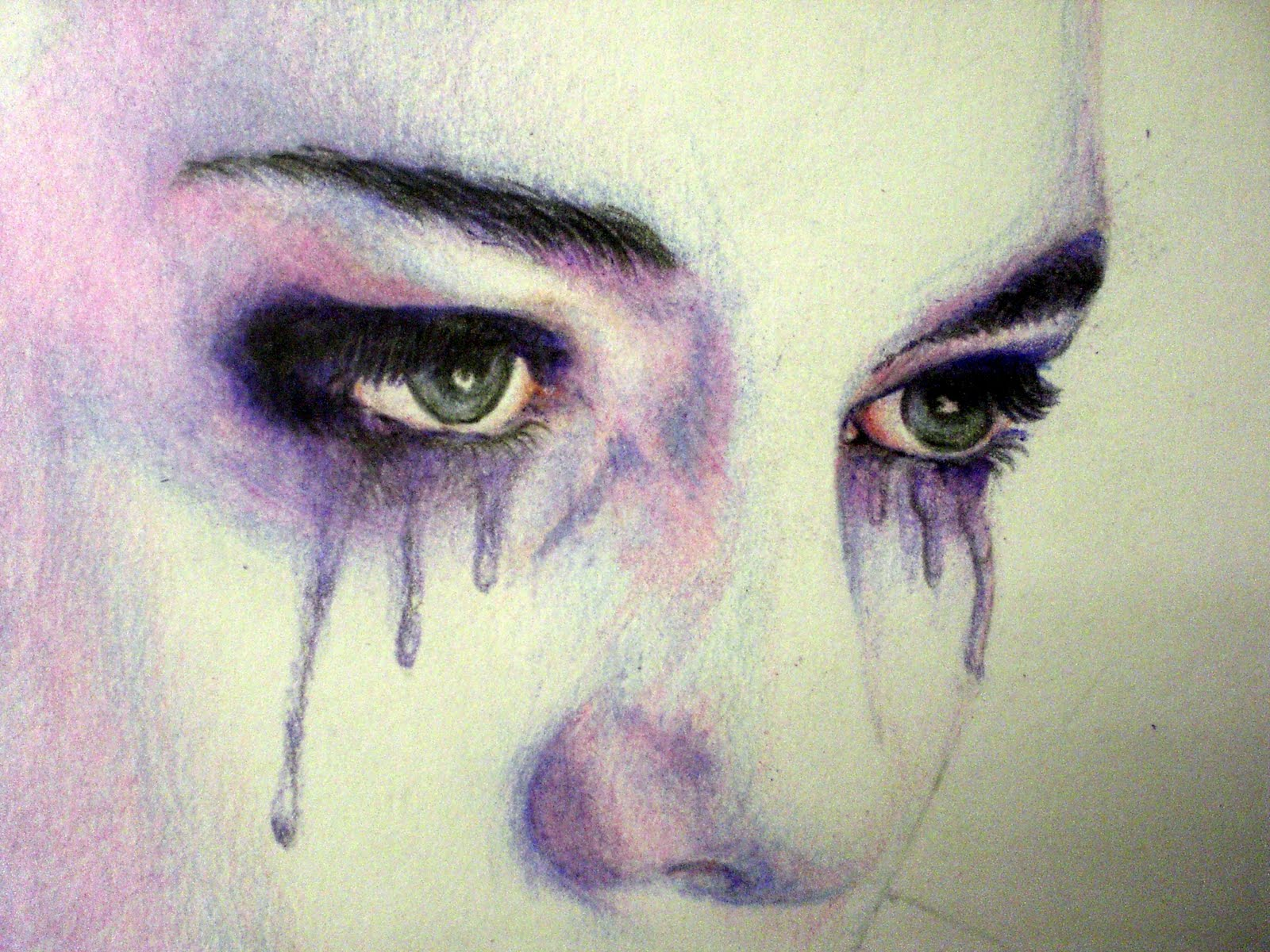 Crying man paintings