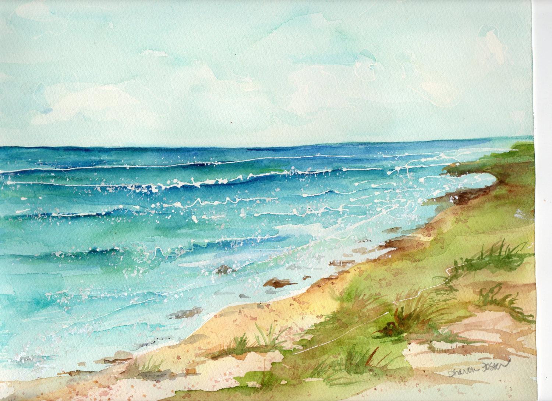 картинки морские пейзажи акварелью любом