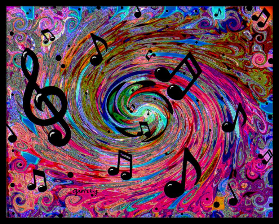 musical music painting paintings gretzky notes canvas abstract artwork instruments psychedelic print note fine band drawings wall rhythm zine piano