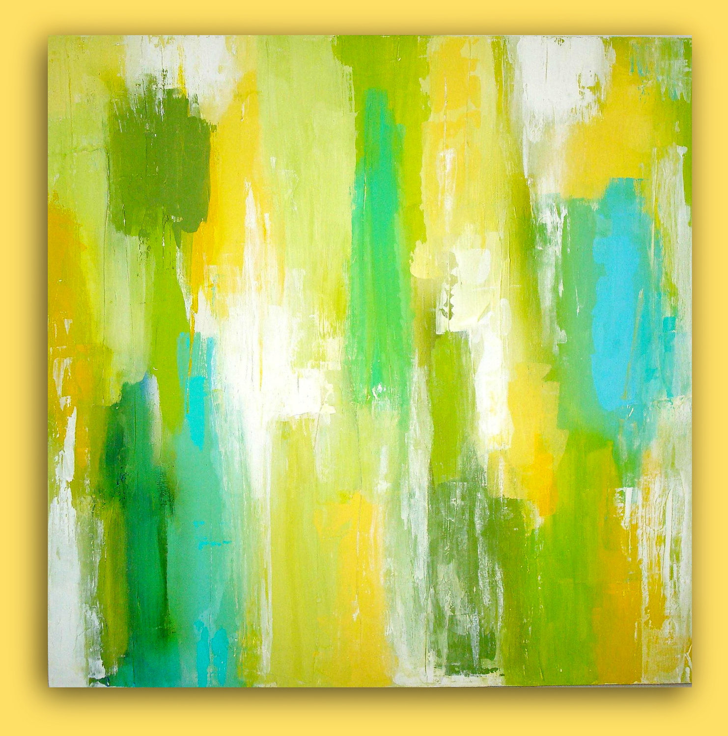 Yellow Abstract paintingsYellow Abstract Painting