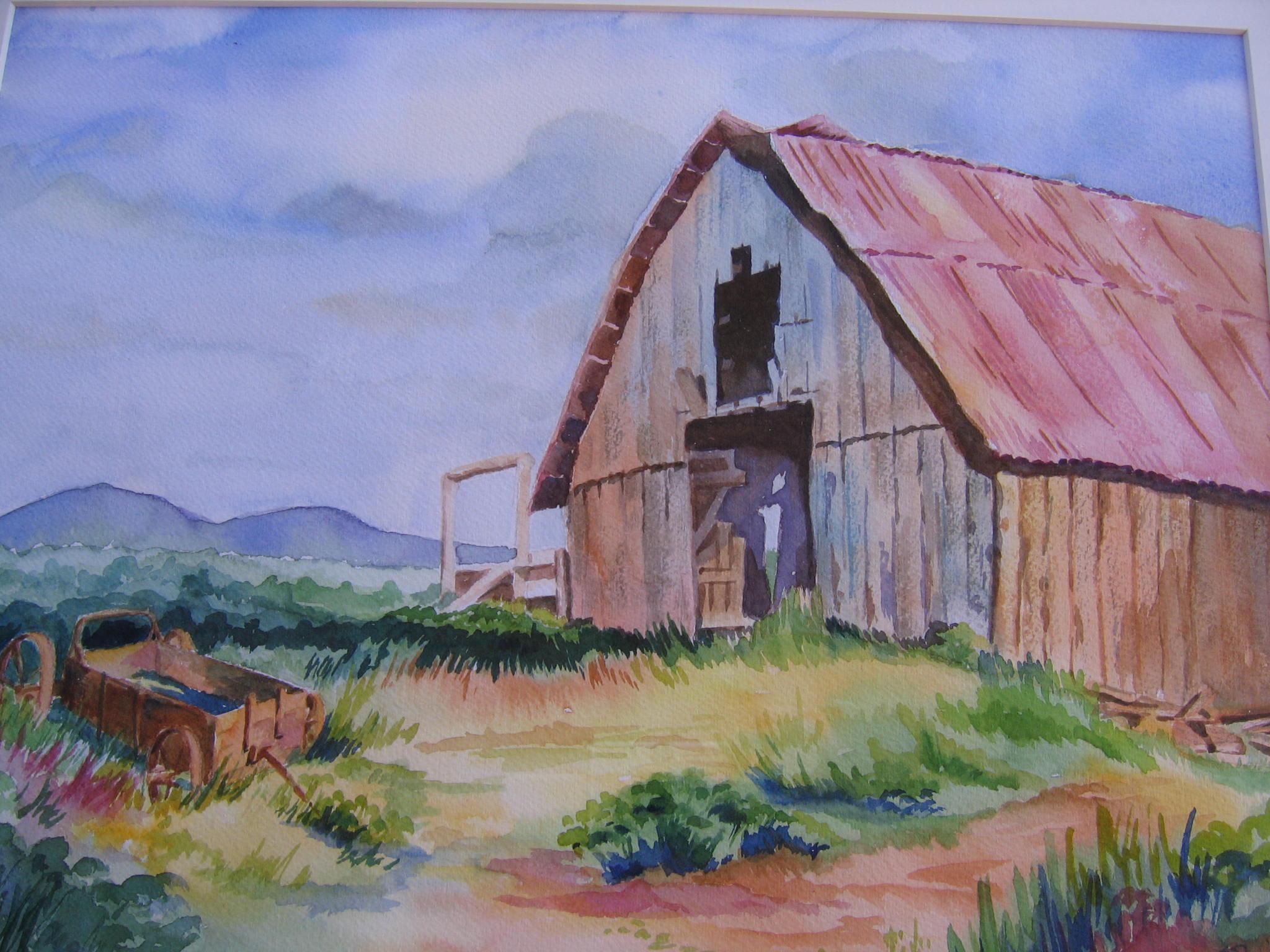 Barn Watercolor paintings
