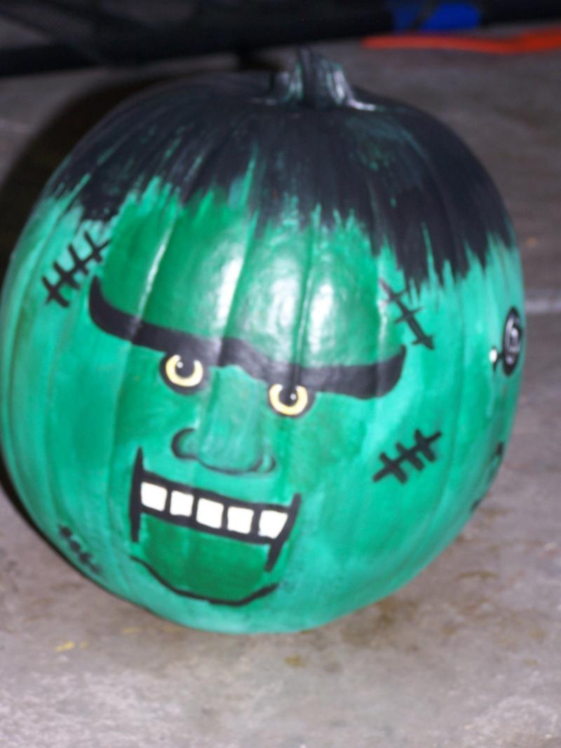 Frankenstein Pumpkin Paintings