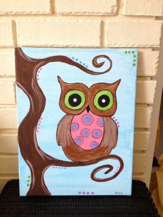 Simple Owl Paintings