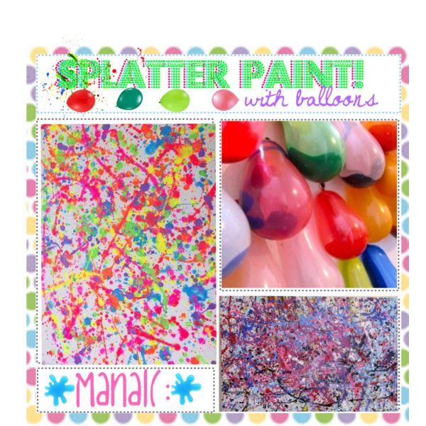 Balloon Splatter Paintings