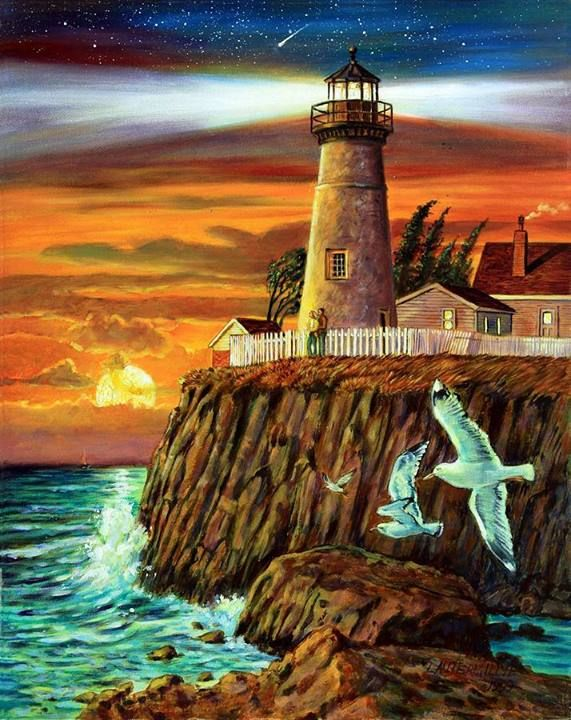 Light House paintings