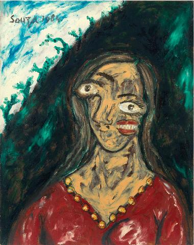 fn souza portrait of suruchi chand 40 60k 46 000