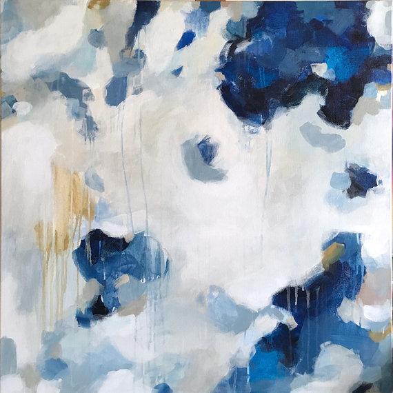 Dark Blue Paintings