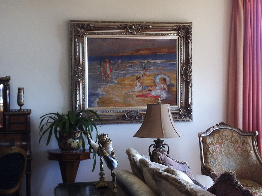 Hang Large Painting Inst In Luxury Home On