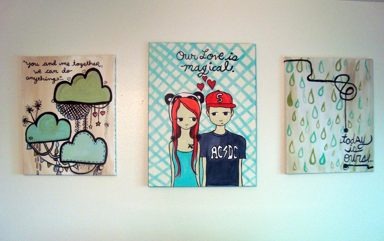 cute love paintings