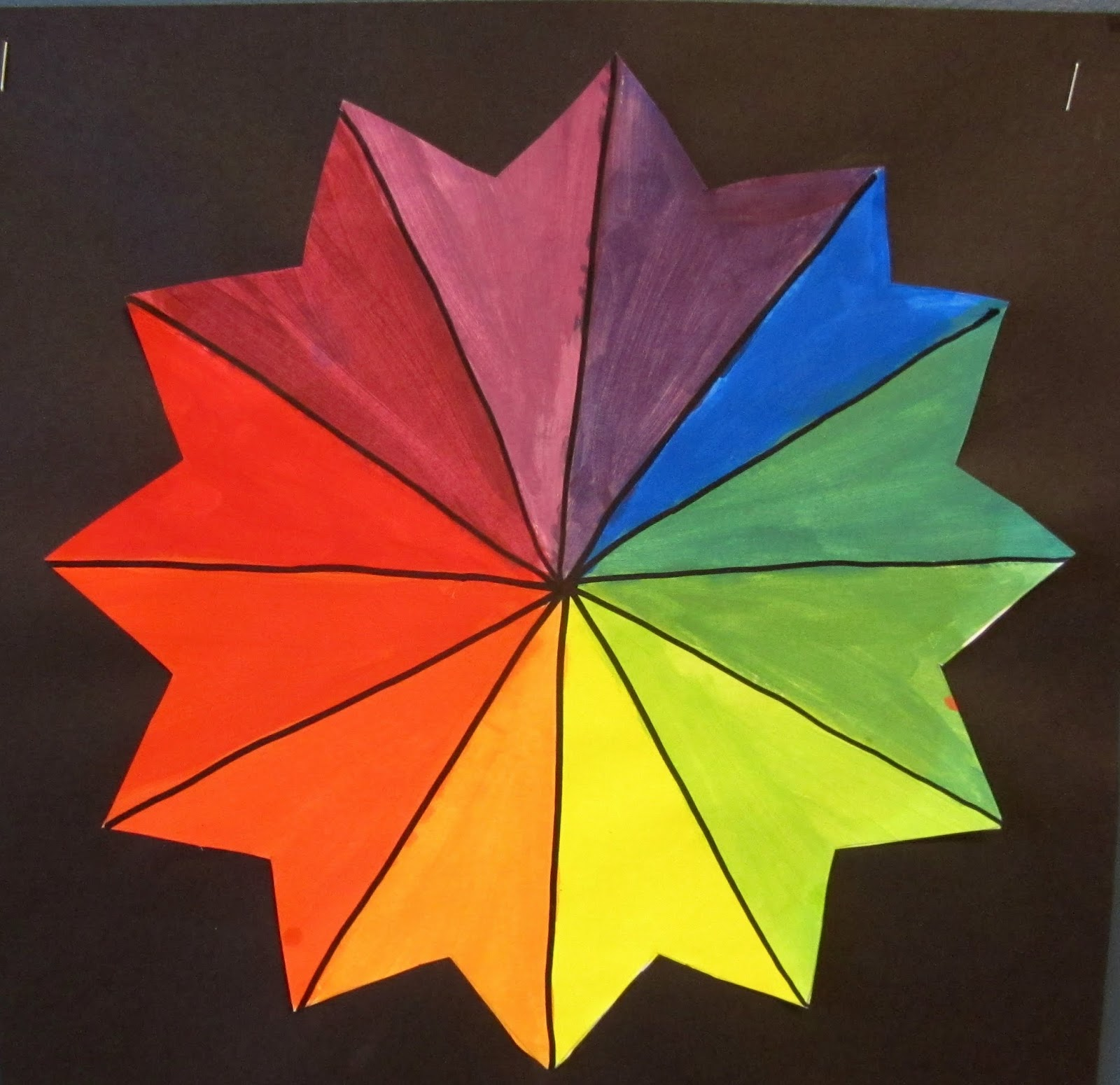 Color Wheel Paintings