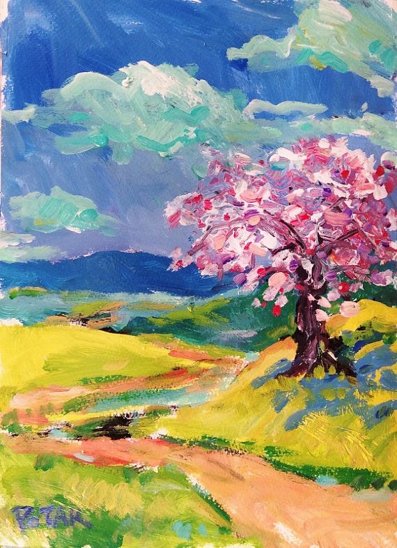 expressionist landscape paintings