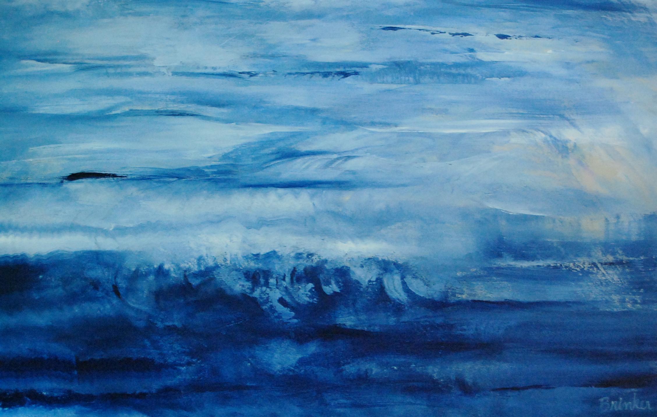 Blue paintings