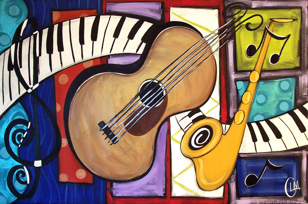 music musical modern picasso pablo instruments artwork different contemporary kinds paintings instrument piece tai arte etsystatic painting musician il fullxfull