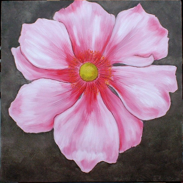 Pink flower paintings canvas painting ideas pink flower paintings mightylinksfo