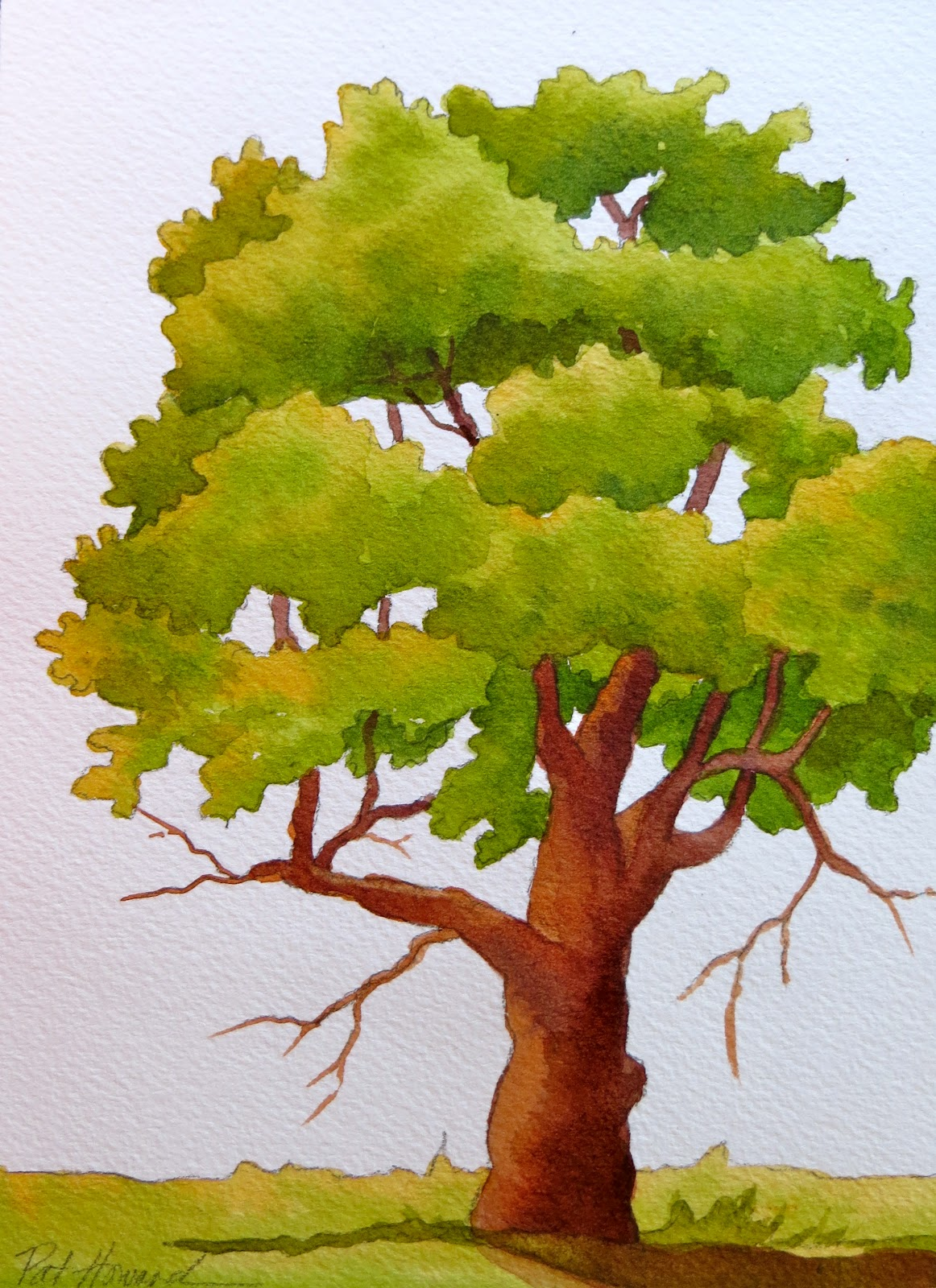 Watercolor Tree Painting - Best Painting 2018 for Tree Drawing With Watercolor  157uhy