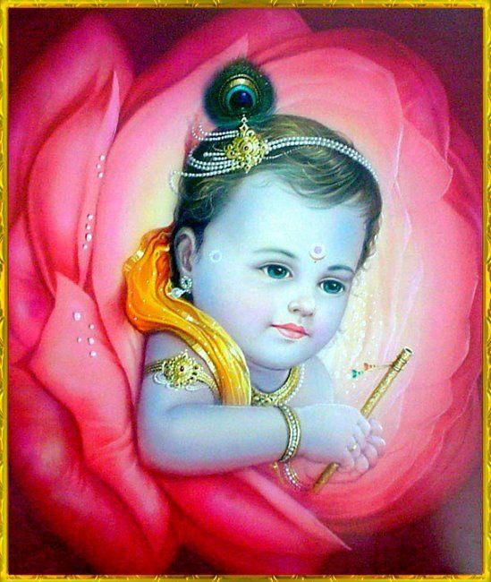 Baby Krishna paintings
