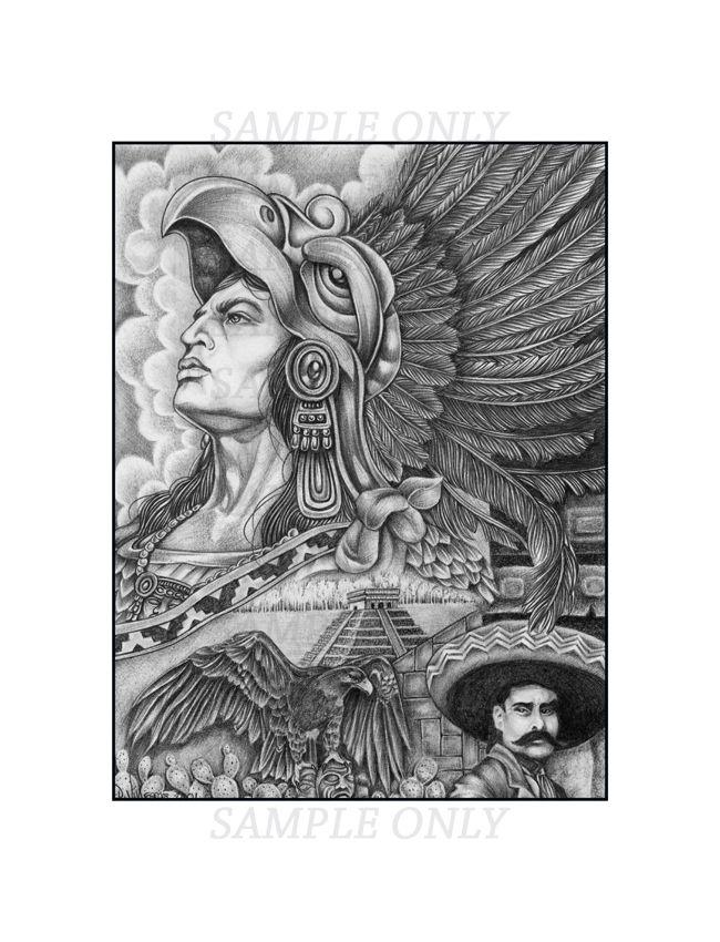 Aztec Warrior Paintings