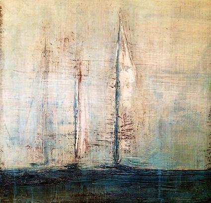 Sailboat Abstract Art