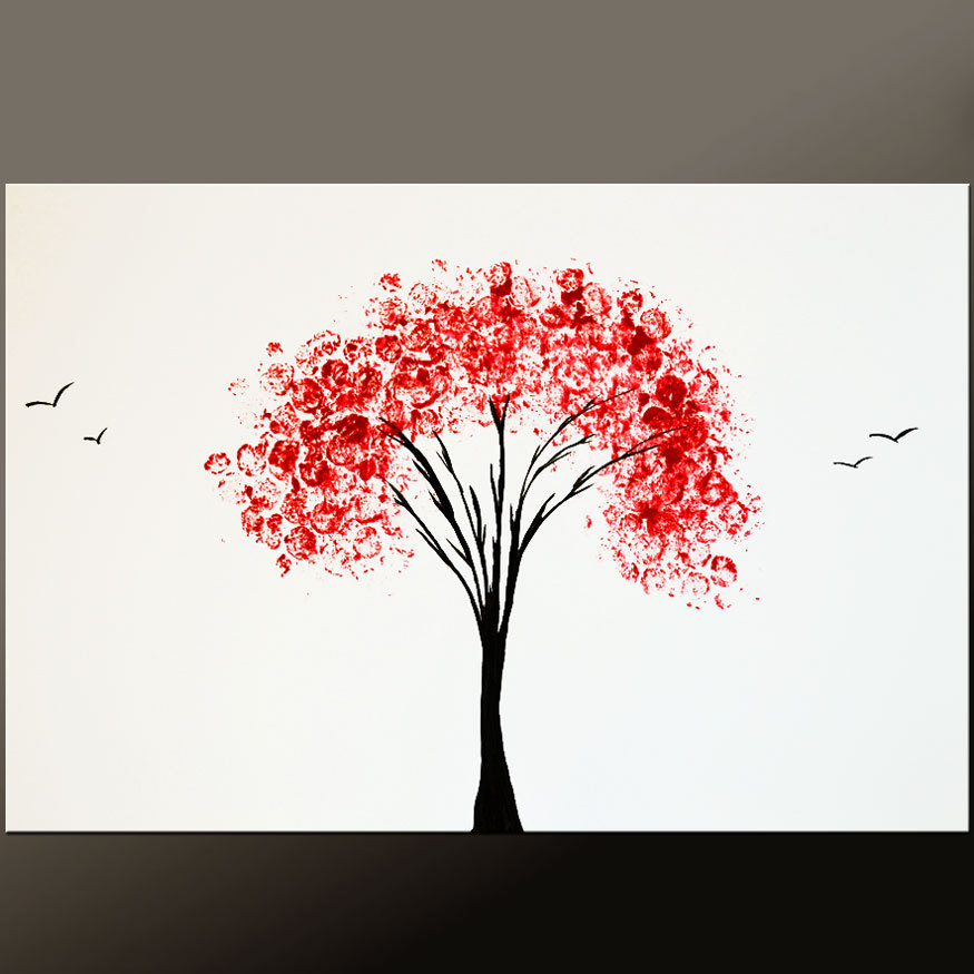 Acrylic Canvas Painting Easy Tree Inspired