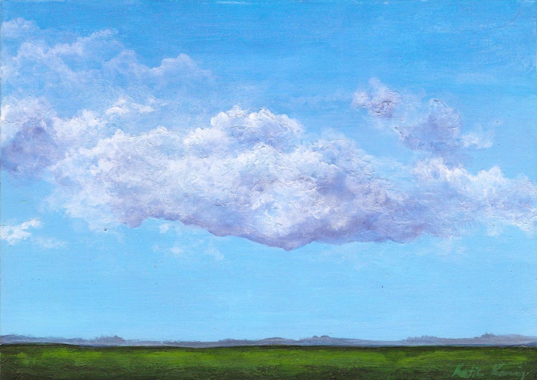 небо с облаками рисунок гуашью такой
