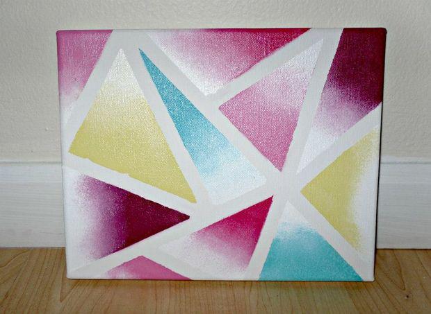 Sponge Dabbing Paintings