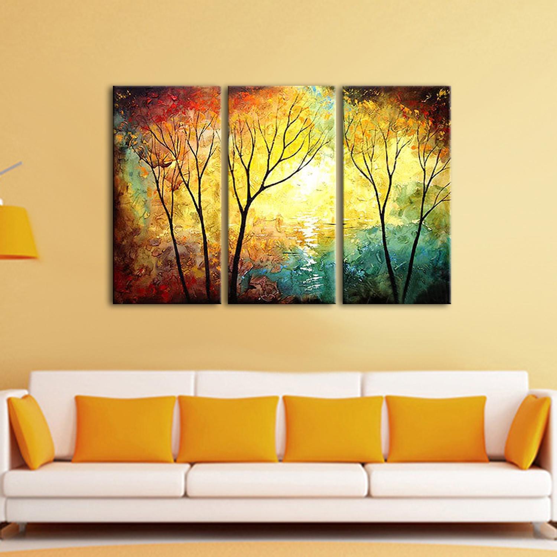 Three Panel paintings