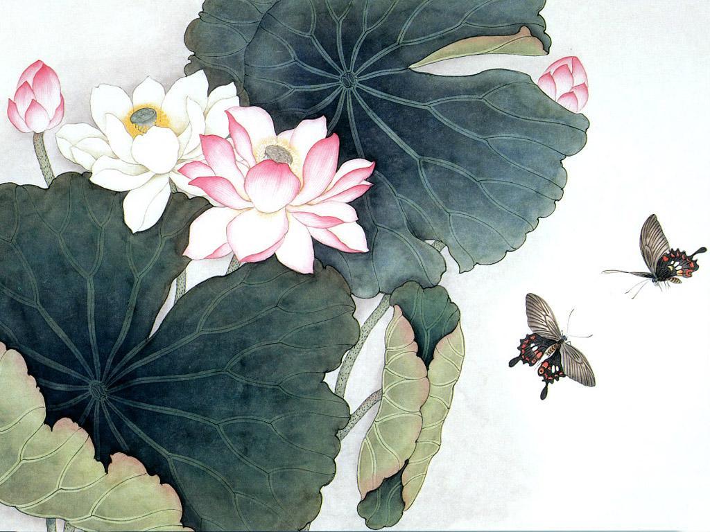 Chinese lotus paintings lotus w paper chinese impression izmirmasajfo