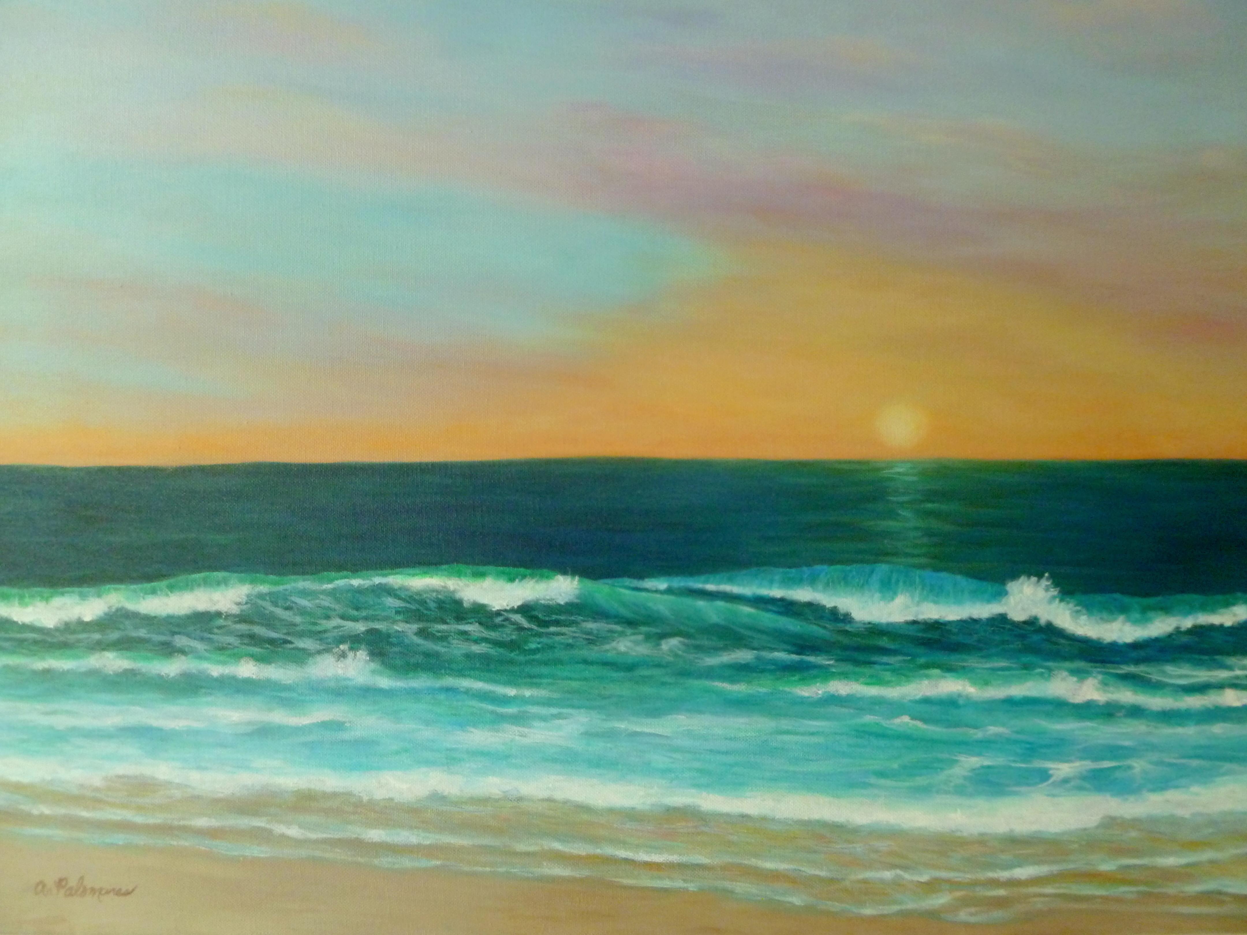Acrylic Ocean paintings
