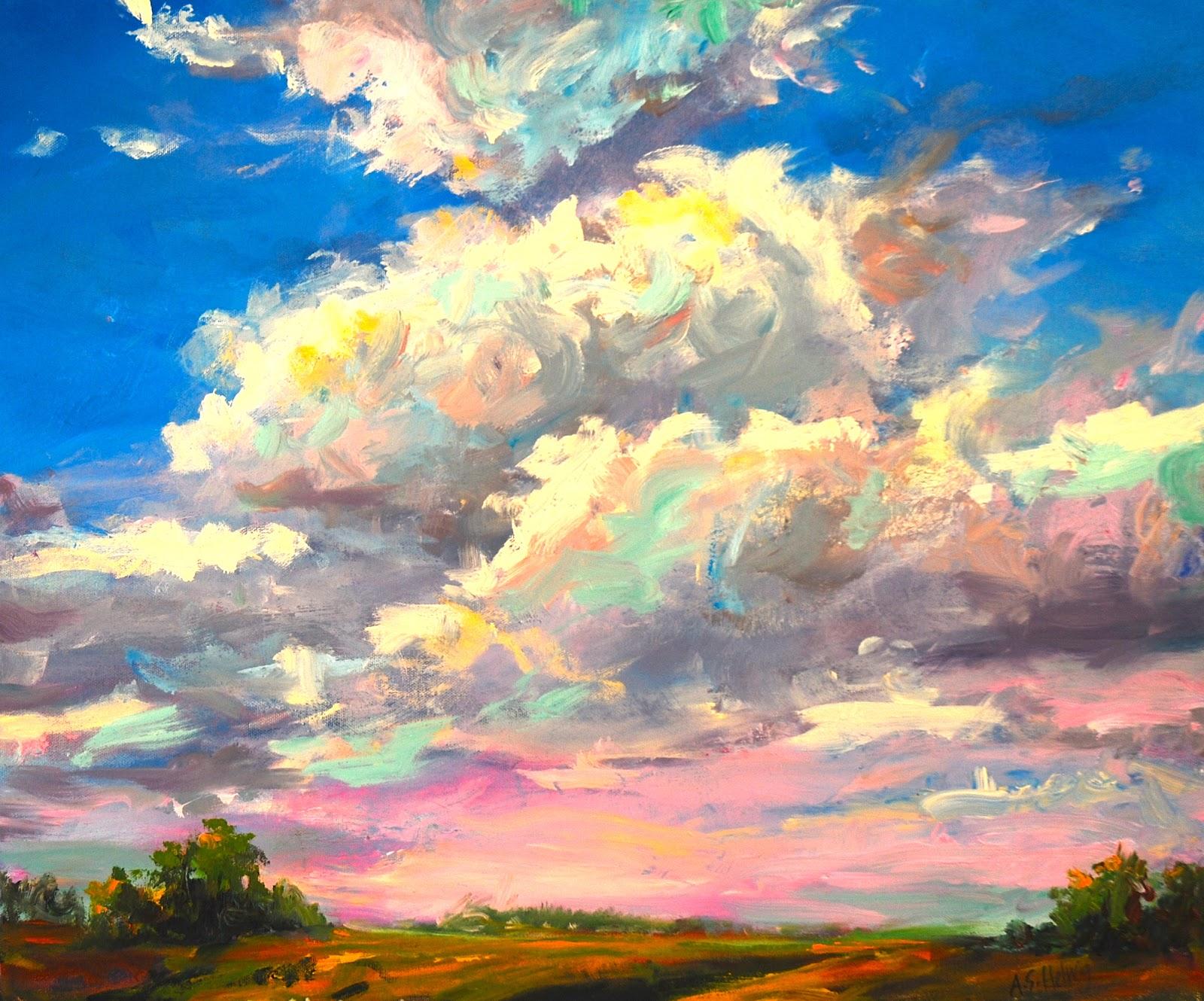 фото небо с облаками рисунок гуашью неделю