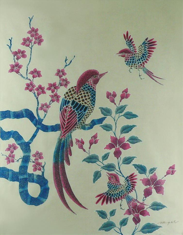 Asian art birds