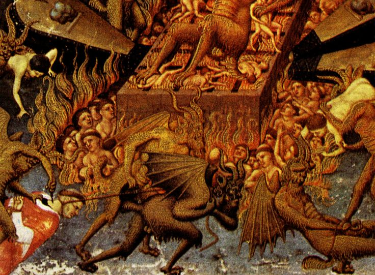 Medieval Hell paintings