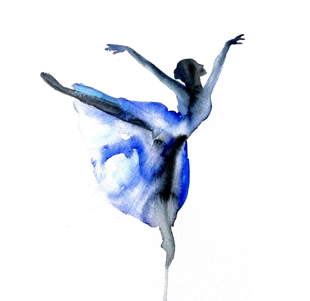Contemporary Line Drawing Artists : Dance art paintings