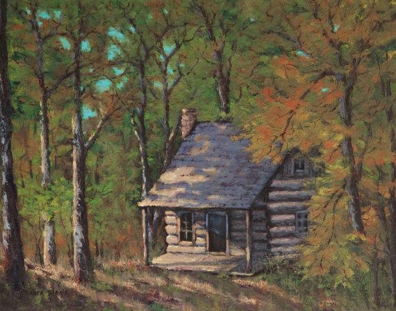Log Cabin Paintings