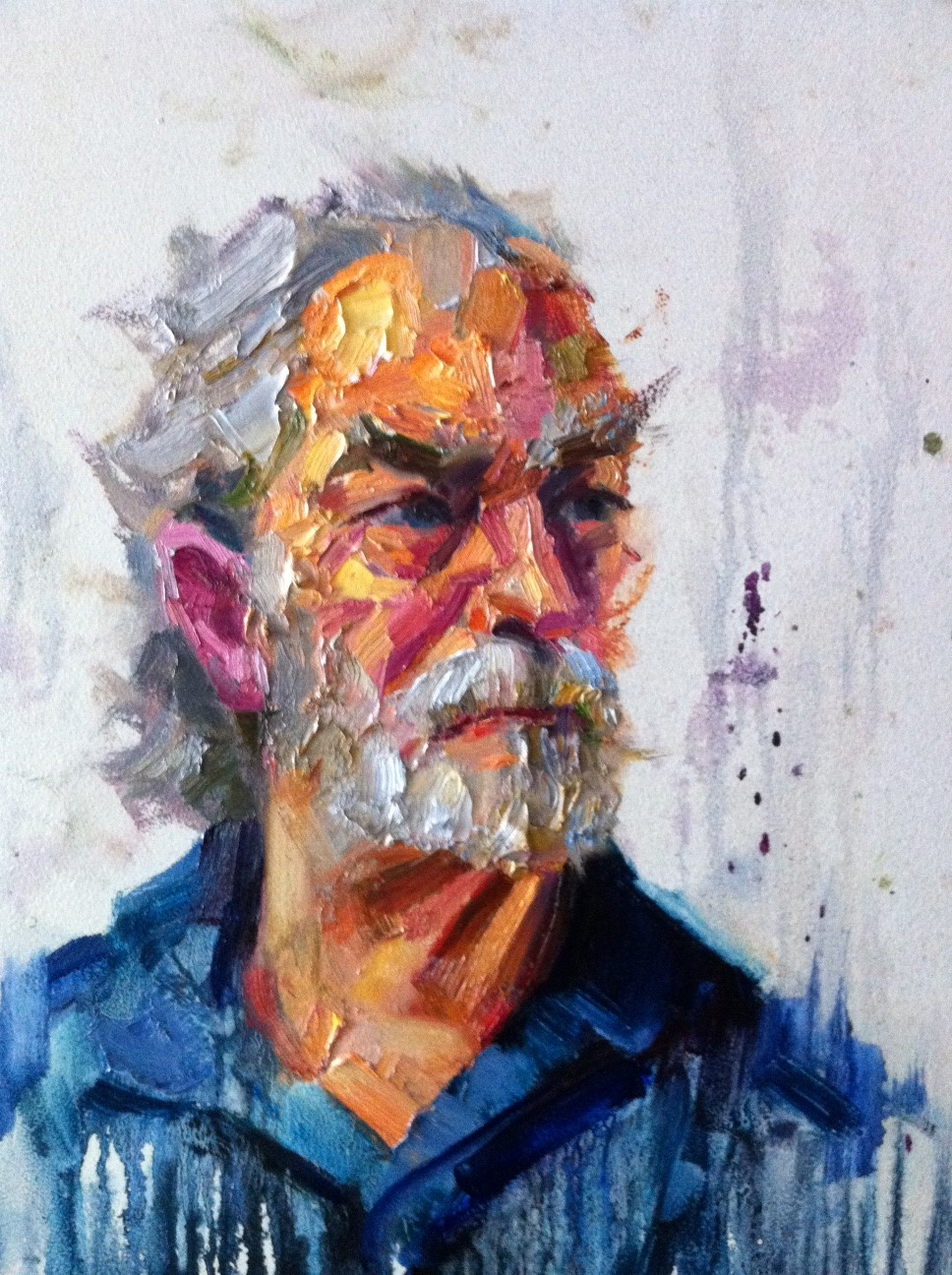impasto portrait paintings