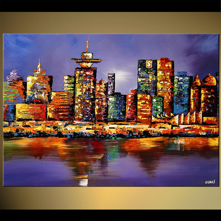 Abstract Skyline paintings