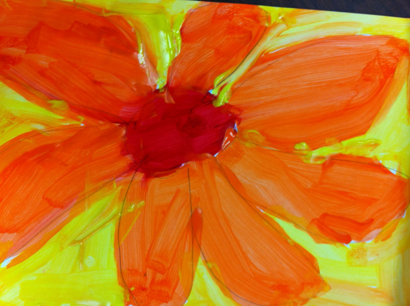 Simple Oil Paintings On Canvas Of Flowers Defendbigbird
