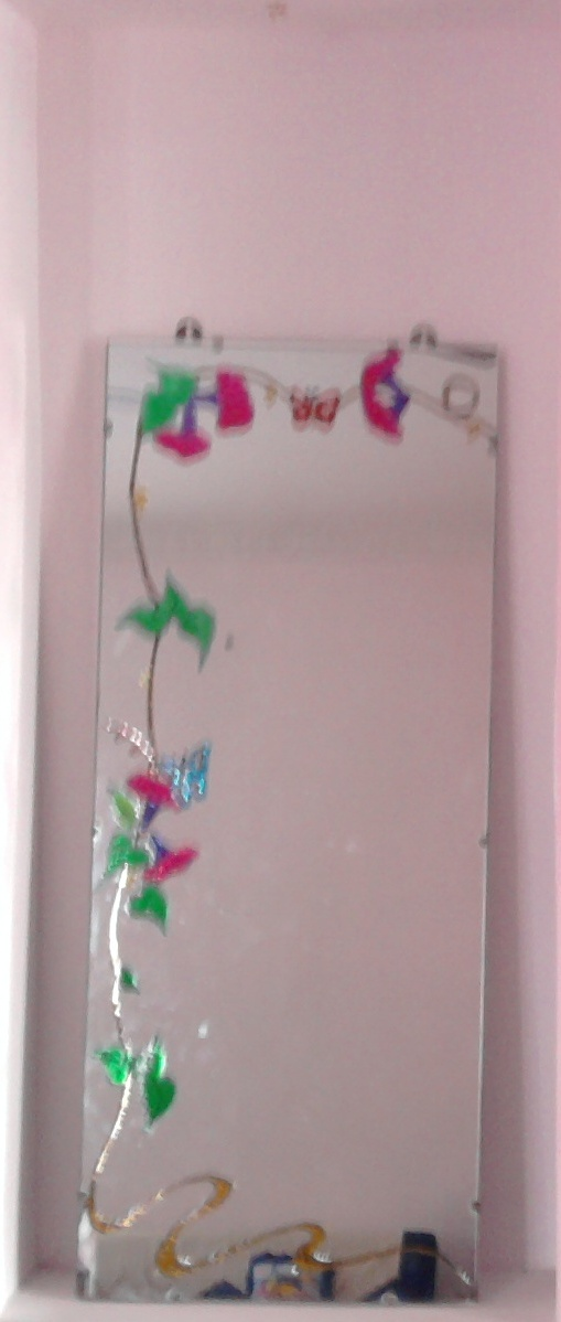 Glass Painting Ideas On Mirror Designs