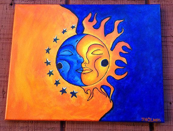 Sun Acrylic Paintings