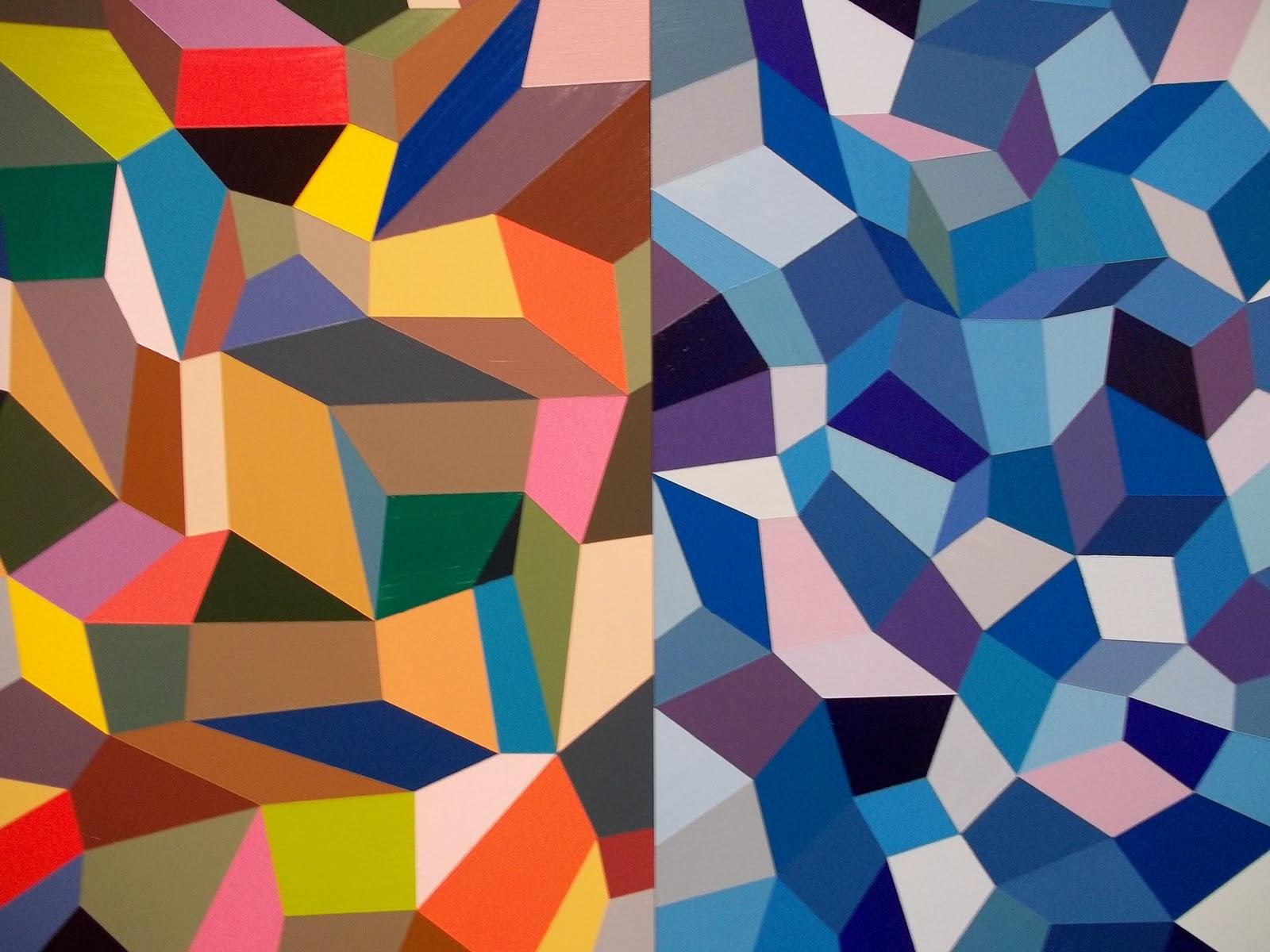 geometric shapes paintings