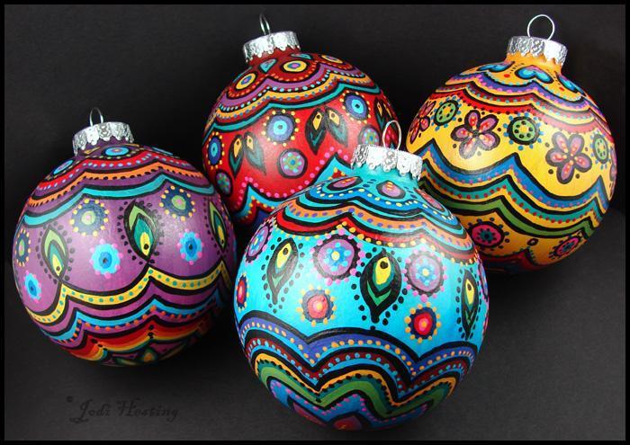 Christmas Ornament Paintings