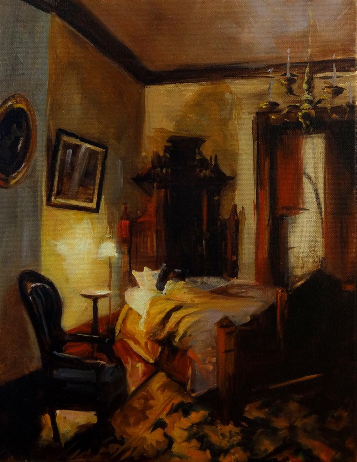 Bedroom Oil paintings