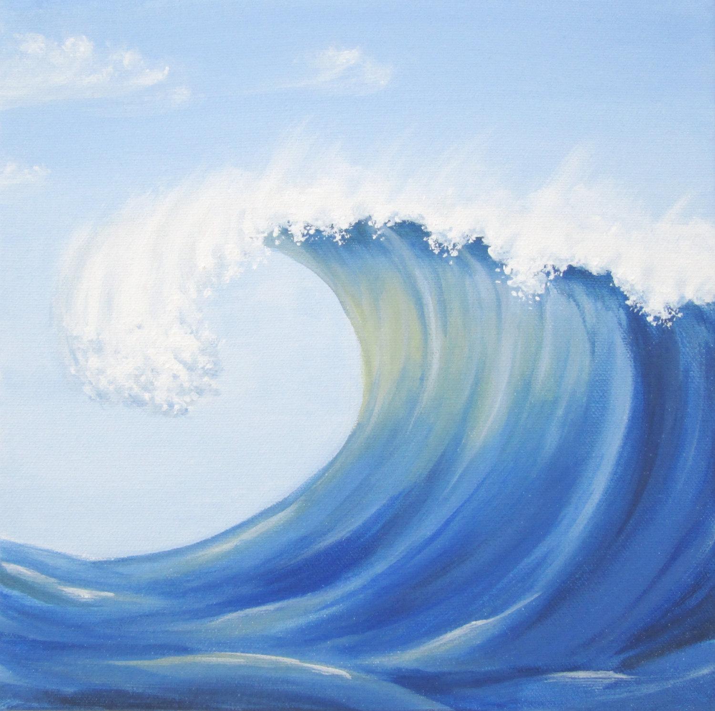 причина, которой картинка как нарисовать волну океан омывает