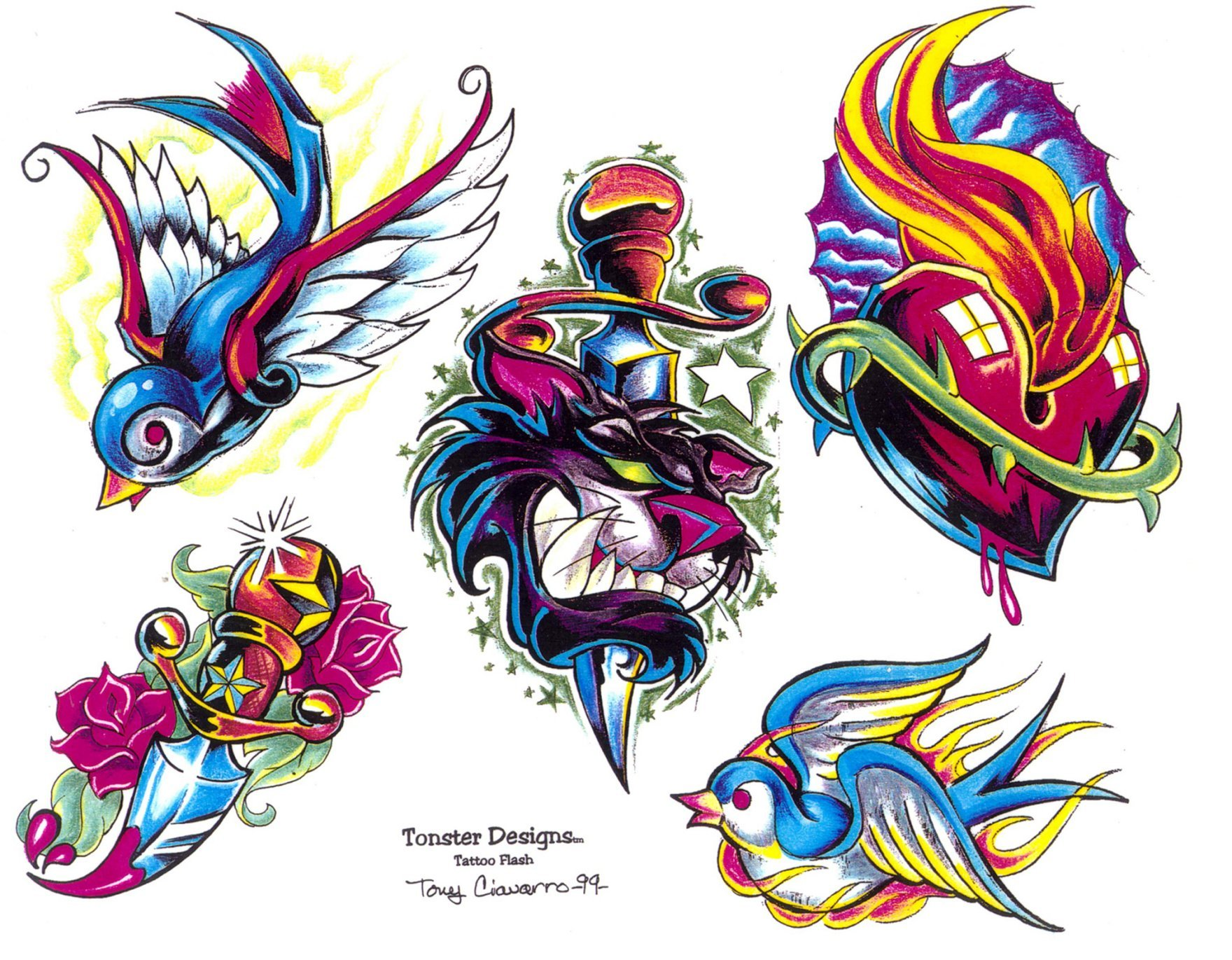 Tattoo Flash paintings