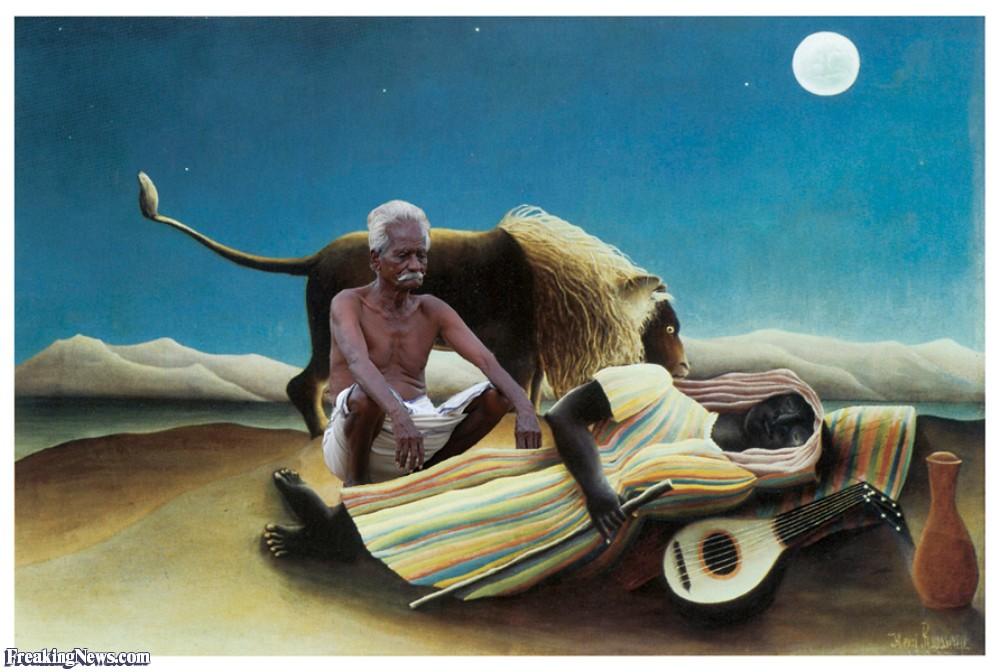 sleeping gypsy paintings